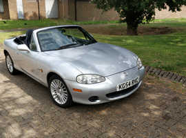 Mazda MX-5, 2004 Silver Convertible, Manual 5 speed. MOT till December.