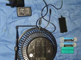 2in1 rechargeable fan full set
