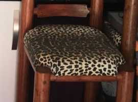 Heavy duty solid wood high chairs