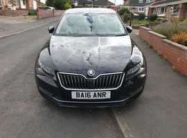 Skoda Superb, 2016 (16) Black Hatchback, Manual Diesel, 77,500 miles