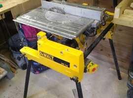 The Dewalt 742 flip over saw, 240v model.