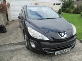 Peugeot 308, 2008 (08) Black Hatchback, Manual Diesel, 150k miles