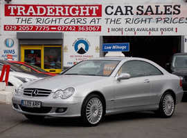2009/09 Mercedes CLK 200 1.8 Avantgarde Kompressor Automatic Coupe finished in Aluminium Silver Metallic. 42,229 miles