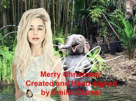 EMILIA CLARKE GBP 5-Christmas-Gift! Selfie Decor Design Wall Picture Souvenir T-shirt Collectible Mug Pillow Sweatshirt Gift Present Tank Top Watch De