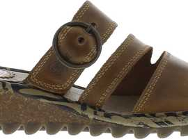 Ladies Brown Leather  Fly Sandals
