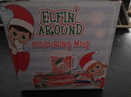 Elf colour your own mug