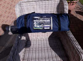Luxury vision windbreak with awning channel