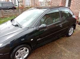 Peugeot 206, 2006 (06) Black Hatchback, Manual Petrol, 115,035 miles