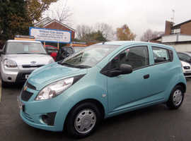 Chevrolet Spark, 2012 (62) Blue Hatchback, Manual Petrol, 35,000 miles