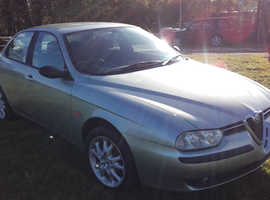 Alfa Romeo 156, 2001 (Y) Green Saloon, Manual Petrol, 85,000 miles