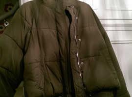 Zara ladies size small hooded puffa jacket