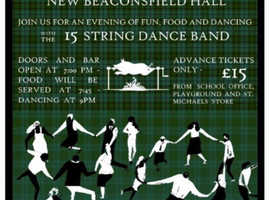 Fundraising Ceilidh in aid of Wychwood Primary School this Sat, Oct 12 from 7pm