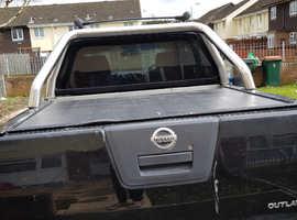 Nissan Navara, 2009 (09) Black 4x4, Manual Diesel, 110,000 miles
