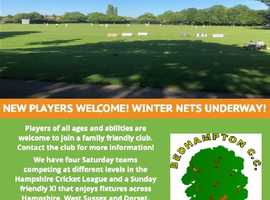 New players welcome for friendly cricket club!