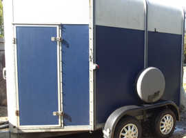 Blue and Silver Horse Box trailer for sale