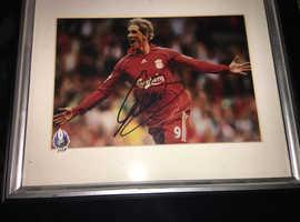 Fernando Torres Signed Framed Photo