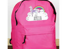 Personalised lunch box/bags, book bags, drawstring bags and rucksack