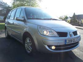 Renault Grand Scenic, 2008 (08) Silver, 7 Seat MPV,  6Sp Manual Diesel, 139,000 miles, Fsh, 1Yr Mot