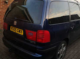 Seat Alhambra, 2005 (05) Blue Estate, Manual Diesel, 235,000 miles