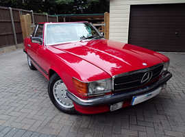 MERCEDES SL CLASS 500SL Auto 500 SL 1983 Auto 123000 Petrol Red R107 MODEL WITH HARD TOP