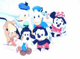 DISNEY SOFT TOY CHARACTERS WITH TAGS UNUSED