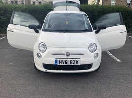 Fiat 500, 2011 (61) White Hatchback, Manual Petrol, 80,434 miles