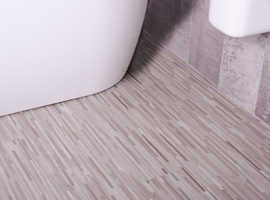 3 Packs of Vinyl Click Plank Flooring Grey Mosaic