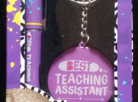 'Teaching Assistant' Keyring & Pen Set (new)