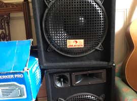 Auna speakers, amplifier and mixer