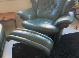 Leather  2x 3 seater 1 x recliner/rocker