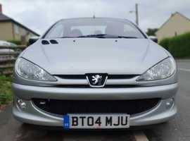 Peugeot 206, 2004 (04) Silver Coupe, Manual Petrol, 52,000 miles