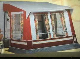 Caravan porch awning.
