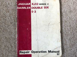 Jaguar XJ12 Daimler Double Six Genuine OE Workshop Manual.
