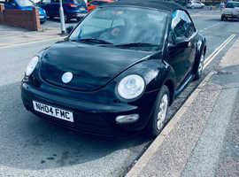 Volkswagen Beetle, 2004 (04) Black Convertible, Manual Petrol, 85,993 miles