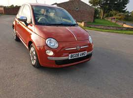 Fiat 500, 2008 (08) Red Hatchback, Manual Petrol, 58,000 miles