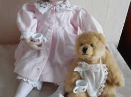 "Ashton Drake Abby porcelain doll ""Please come to tea"" collection RARE!"