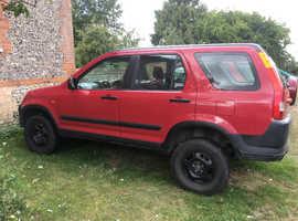 Honda CR-V, 2002 (52) Red Estate, Manual Petrol, 103,228 miles