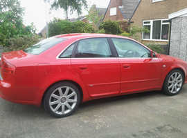 Audi A4 S Line  TDI 2005 (05) Red Saloon, Automatic Diesel, 104,000 miles