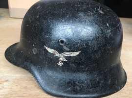 German WWII M42 luftwaffe Single Decal Helmet