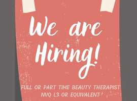 WANTED: Beauty Therapist For High Paying Position