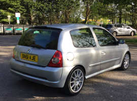 Renault Clio, 2002 (51) Silver  172 Sports, Manual Petrol, 68,000 miles
