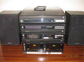 Vintage Technics stacking hi-fi system & speakers
