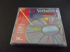 Verbatim 74 Rare collectible new recordable Minidisc