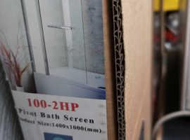 Bath Shower 180° Pivot Glass Door Screen 1400 x 1000