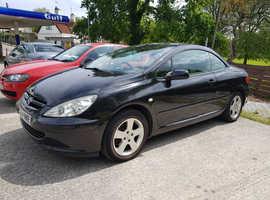 Peugeot 307, 2004 (04) Black,Convertible , Manual Petrol, 90,000 miles,