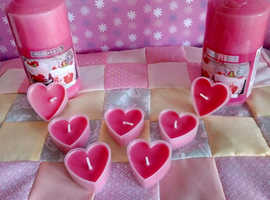 CANDLES & HEART SHAPED TEALIGHTS