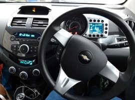 Chevrolet Spark, 2011 (61) Green Hatchback, Manual Petrol, 91,500 miles