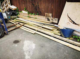 Mixture of lengths of wood
