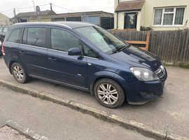 Vauxhall Zafira, 2012 (62) Blue MPV, Manual Diesel, 150,000 miles