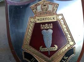 H.M.S Norfolk Type 23 Frigate Ships Crest Plaque